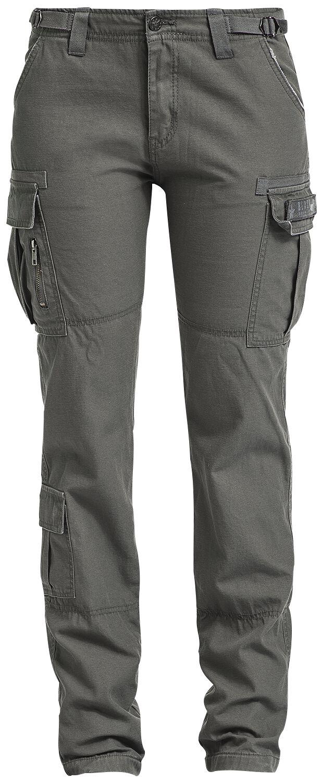 Hosen für Frauen - Black Premium by EMP Army Vintage Trousers Cargohose oliv  - Onlineshop EMP