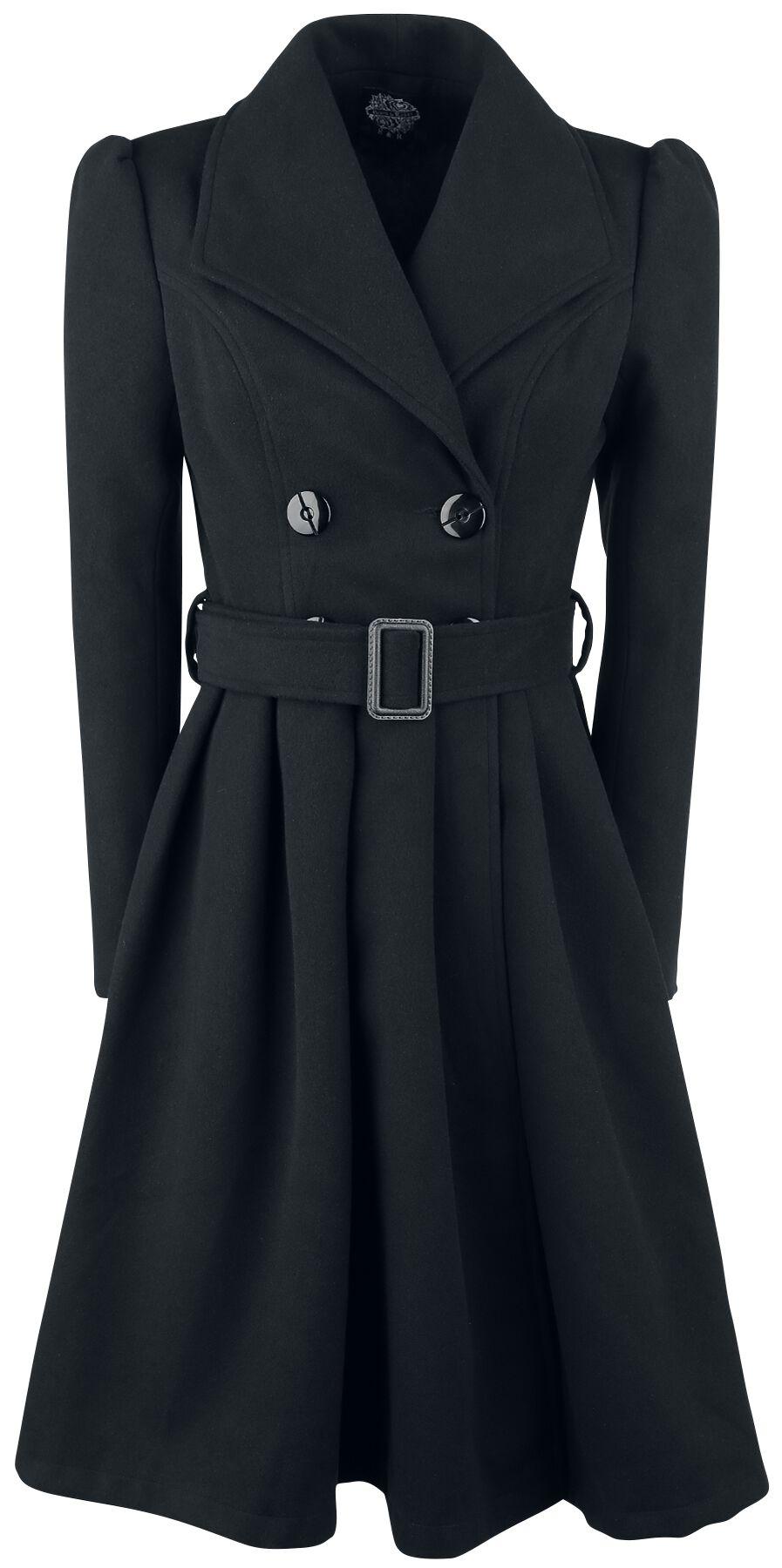 Jacken - H R London Black Vintage Swing Coat Wintermantel schwarz  - Onlineshop EMP