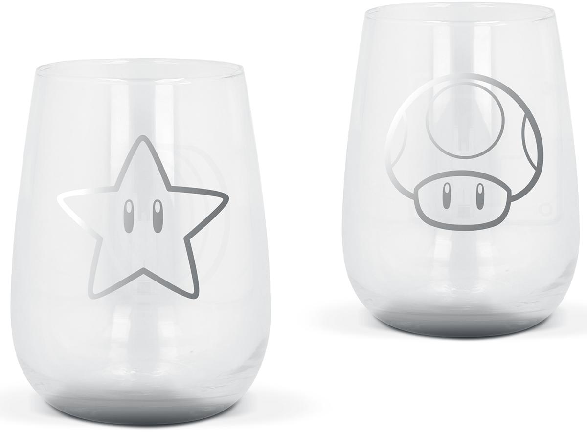 Super Mario - Gläser-Set - Glas-Set - klar