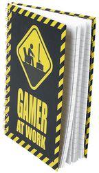 Gamer At Work Notizbuch