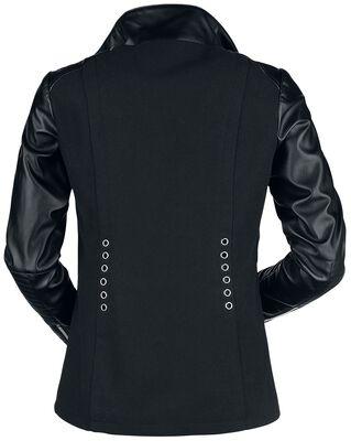 Schwarze Jacke im Gothic-Biker Style mit Zierösen