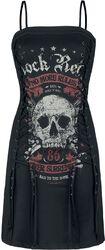 Kurzes Kleid mit Schnürung Rock Rebel