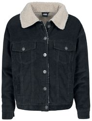 Ladies Oversize Sherpa Corduroy Jacket