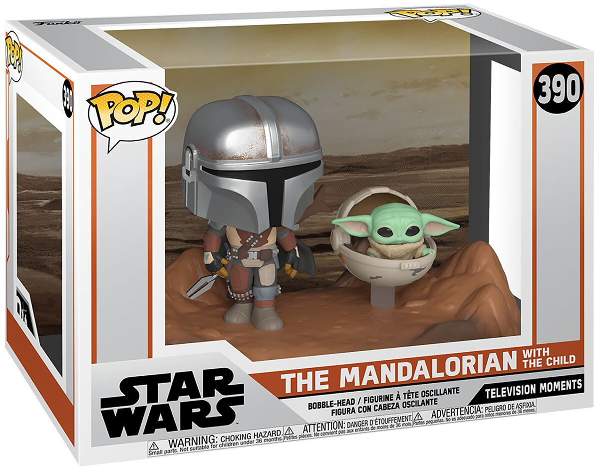 Star Wars The Mandalorian - The Mandalorian with The Child (Movie Moments) Vinyl Figur 390 powered by EMP