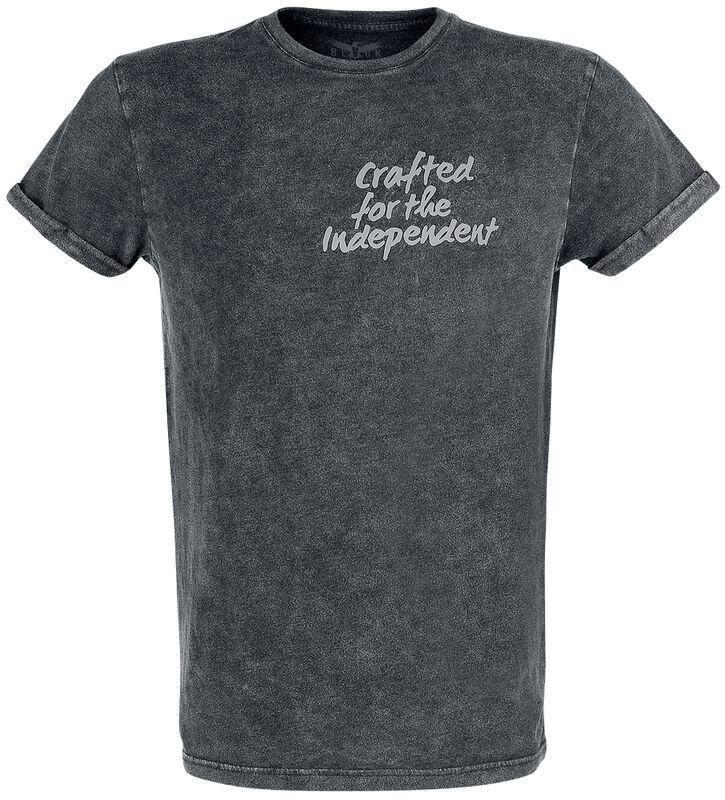 T-Shirt mit Vintage-Waschung und 3-D-Print