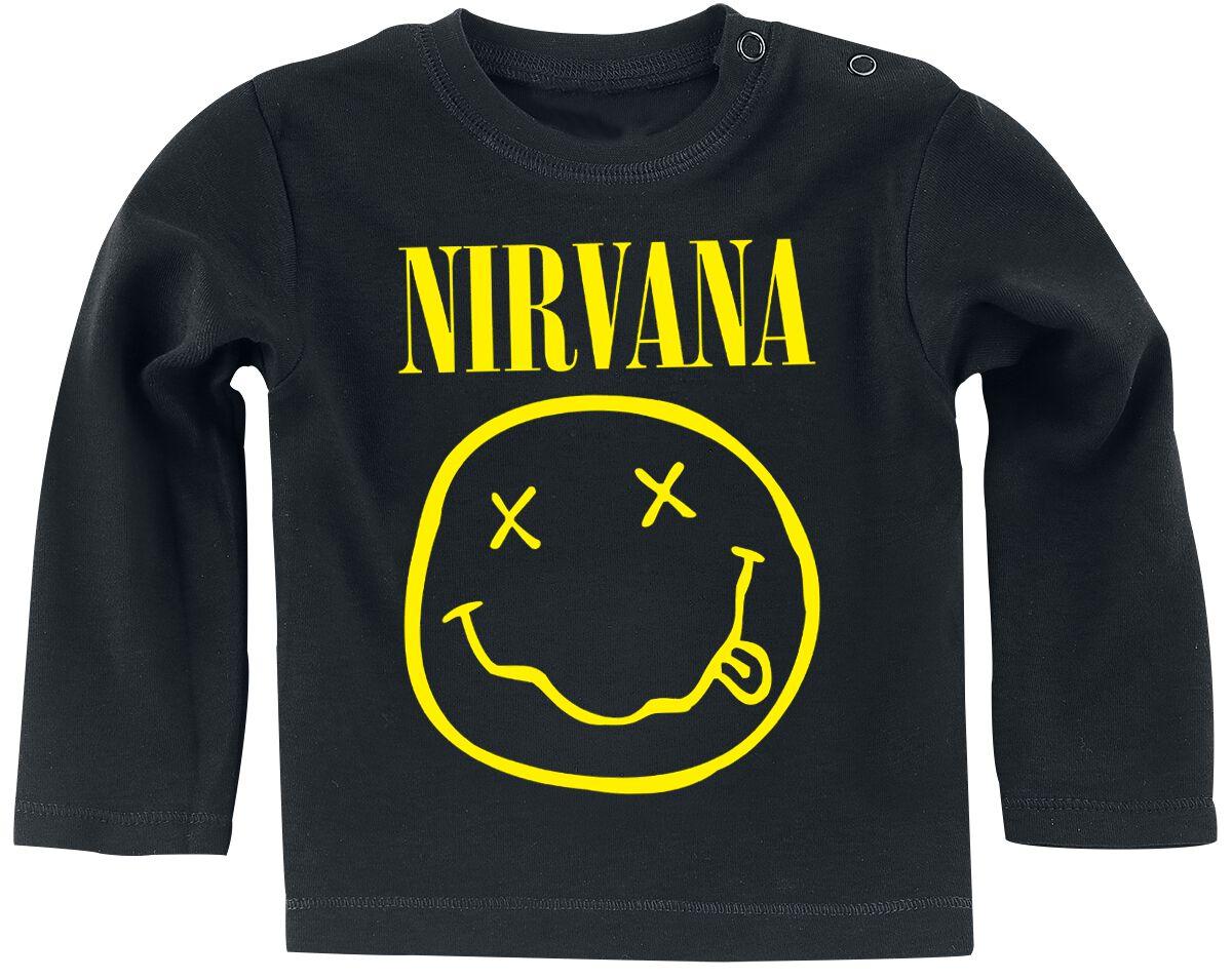 Image of Nirvana Smiley Baby-Longsleeve schwarz