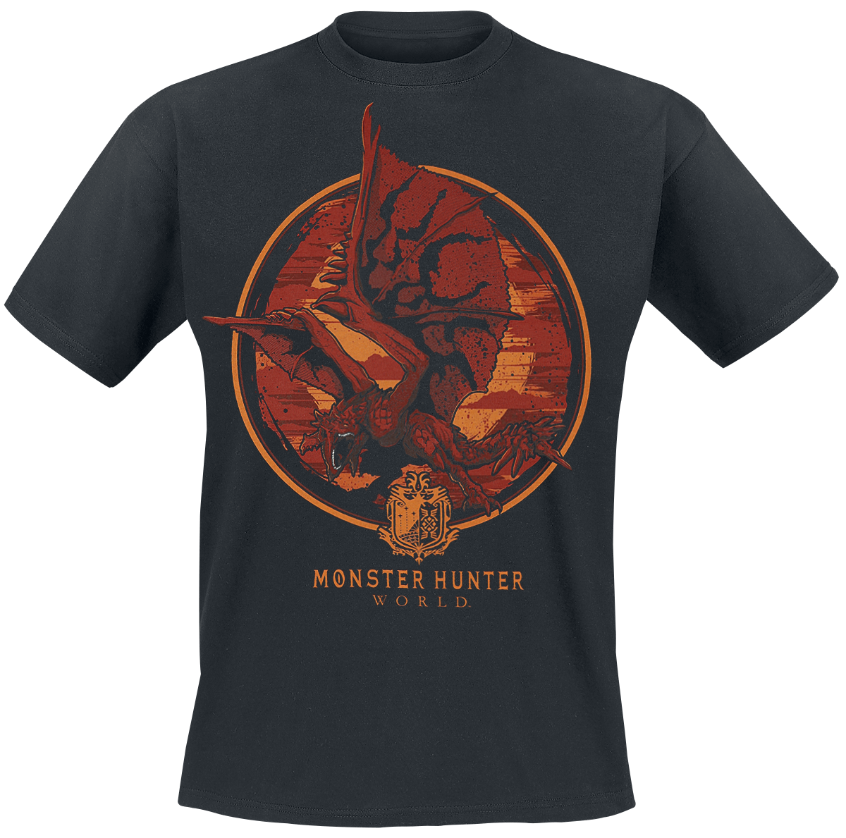Monster Hunter - World - Screaming Rathalos - T-Shirt - black image