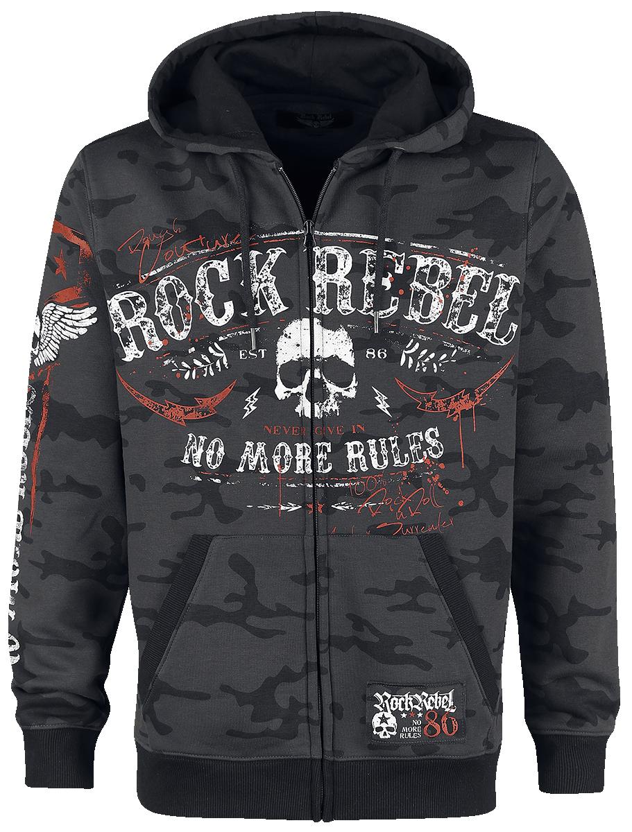 Rock Rebel by EMP - Mask Of Sanity - Hooded zip - dark grey image