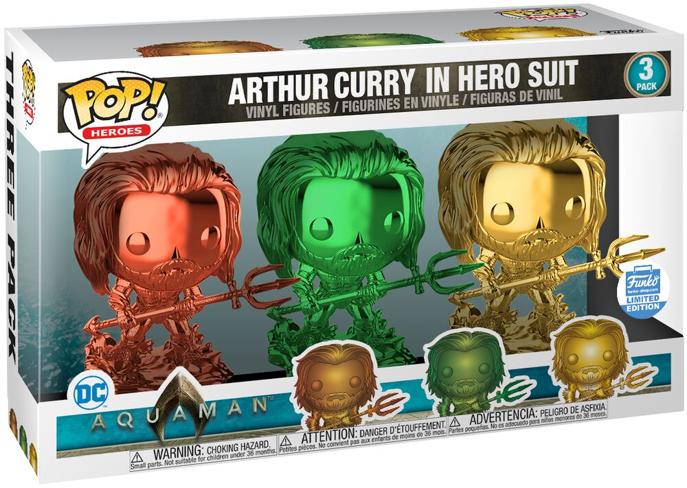 Arthur Curry in Hero Suit (3 Pack) (Funko Shop Europe) Vinyl Figure