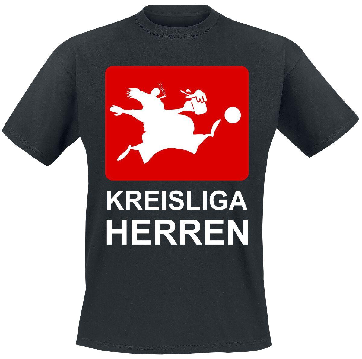 Kreisliga Herren T-Shirt schwarz POD - BY083 - 5360