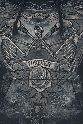 Schwarzer Kapuzenpullover mit Print