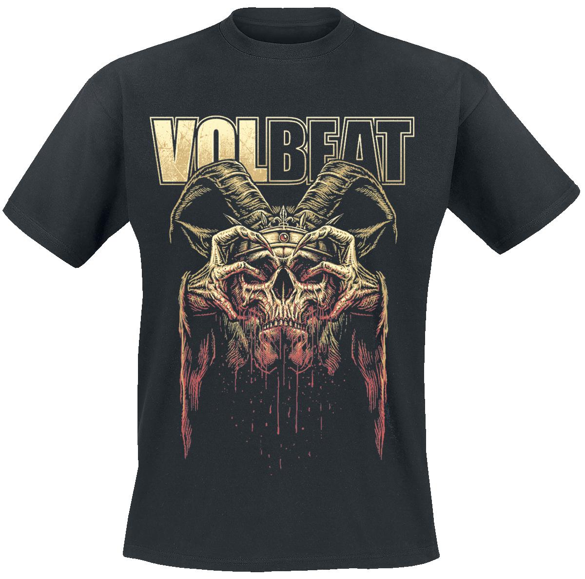 Volbeat - Bleeding Crown Skull - T-Shirt - black image