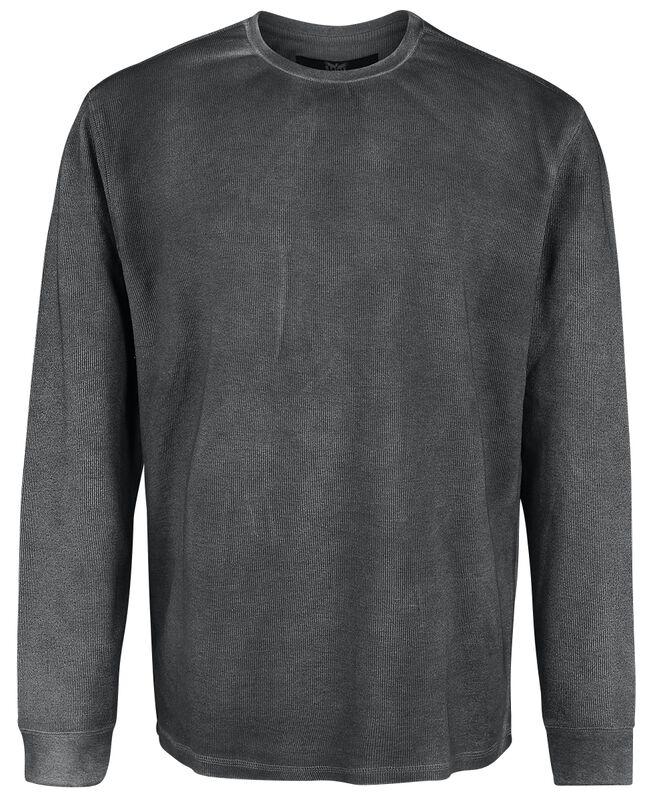 Graues Sweatshirt mit leichter Waschung