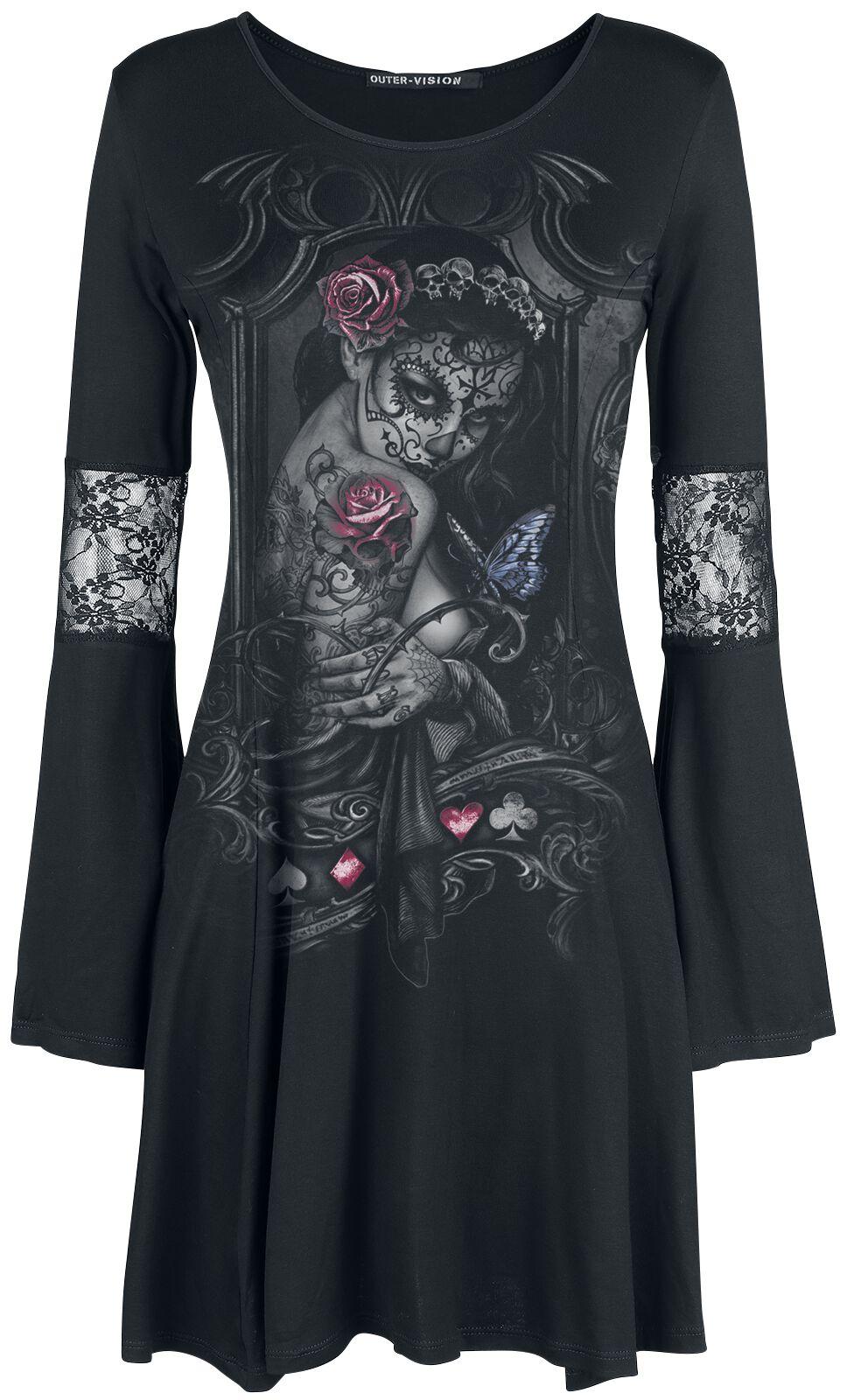 Kleider für Frauen - Alchemy England Widow's Weed Kleid schwarz  - Onlineshop EMP