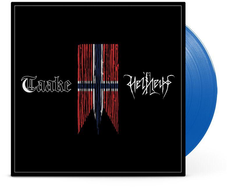 Image of Taake / Helheim Henholdsvis 10 inch-EP blau
