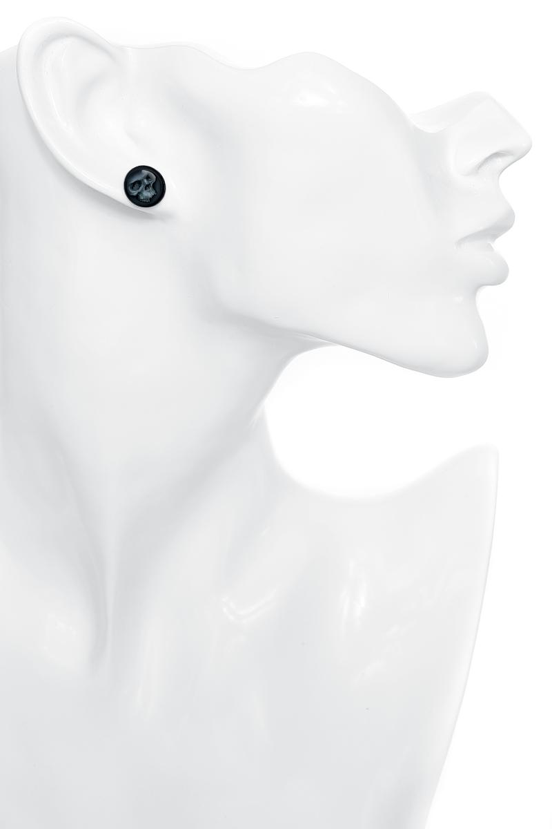 Image of Wildcat Grey Skull Ear Plug schwarz/grau