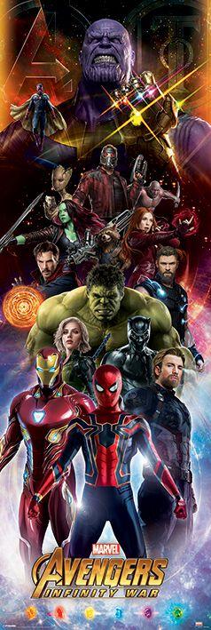 Image of Avengers Infinity War - Charaktere Door-Poster multicolor