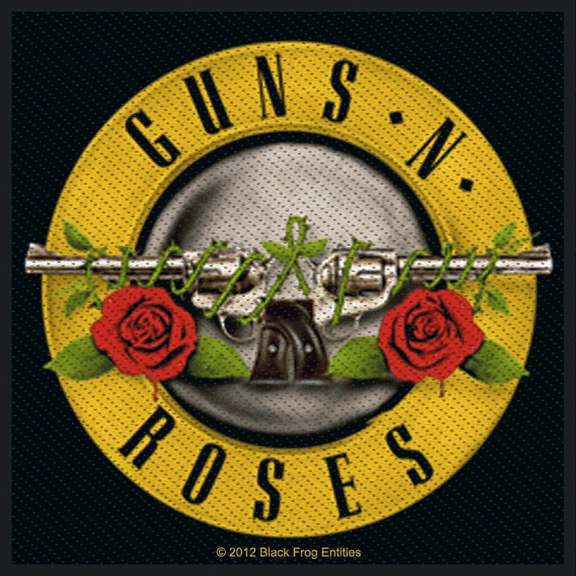 Guns N' Roses  Bullet Logo  Patch  multicolor