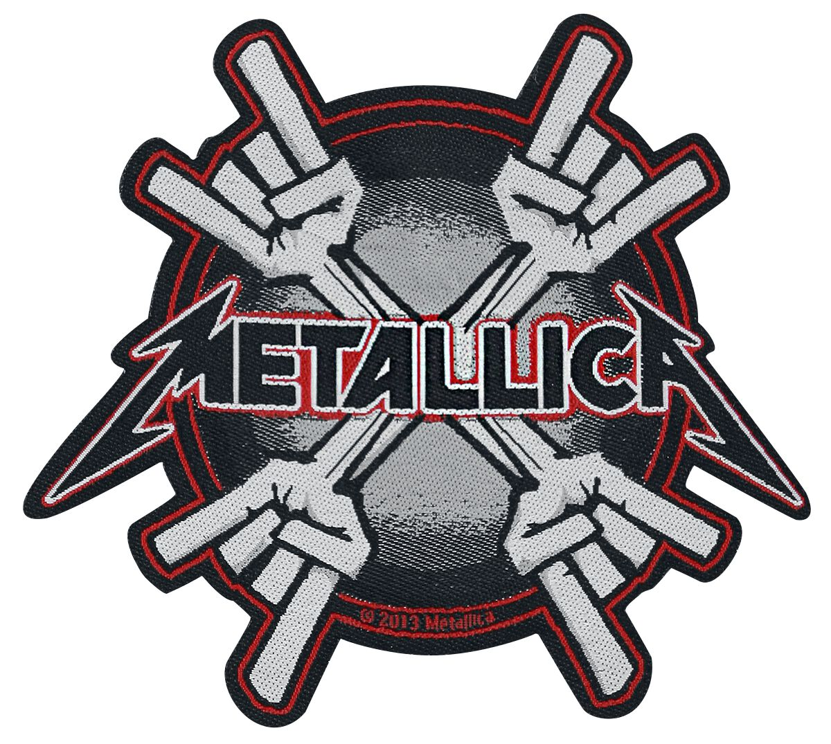 Metallica  Metal Horns  Patch  multicolor
