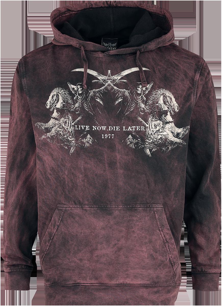 Alchemy England - Reapers Kingdom - Hooded sweatshirt - black-bordeaux image