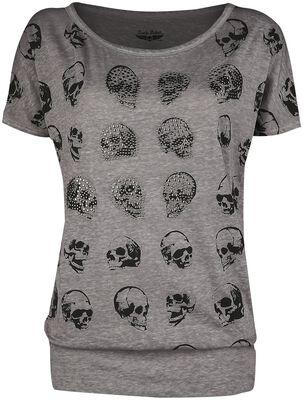 T-Shirt mit Skull-Print