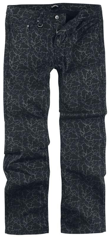 Johnny - schwarze Jeans mit Alloverprint