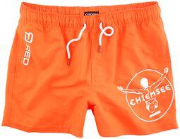 RED X CHIEMSEE - orange Badeshorts mit Print