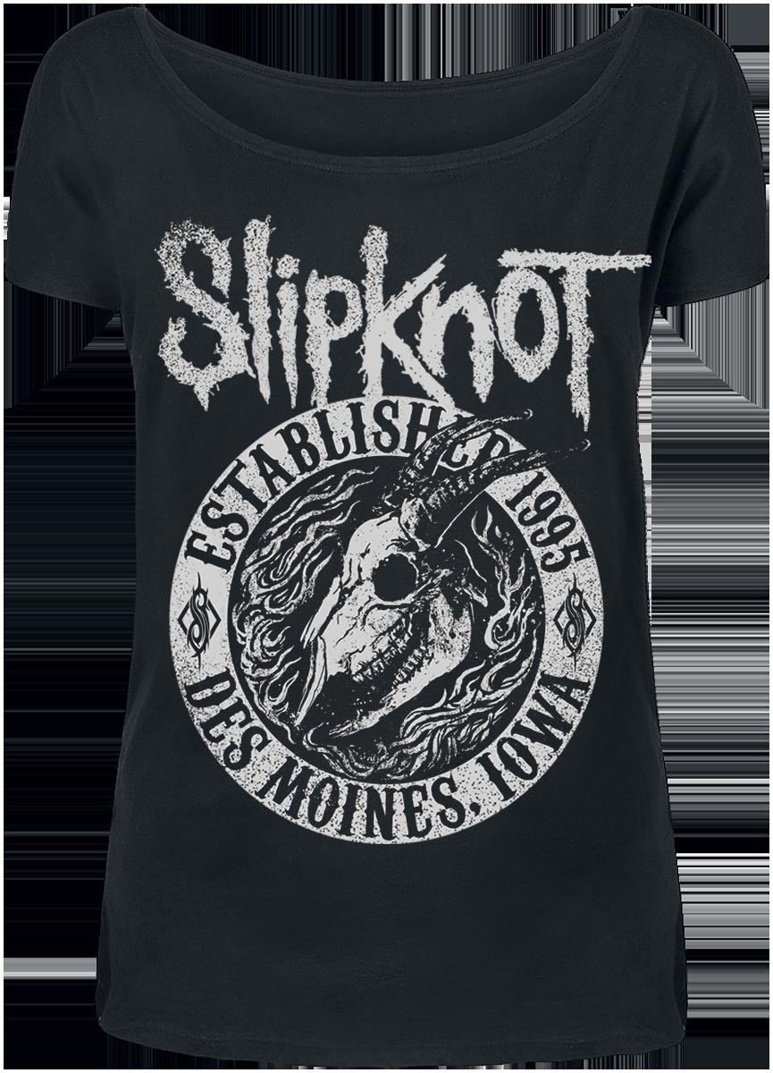 Slipknot - Flaming Goat - Girls shirt - black image