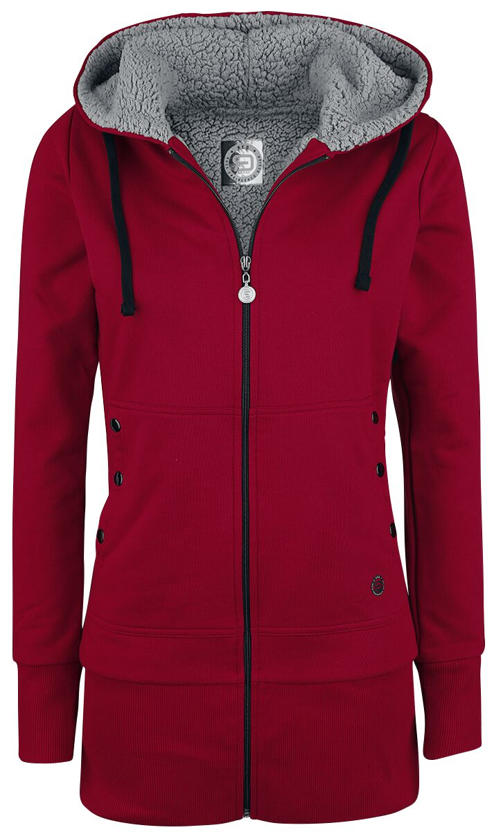 RED by EMP Warped Hooded zip red grey