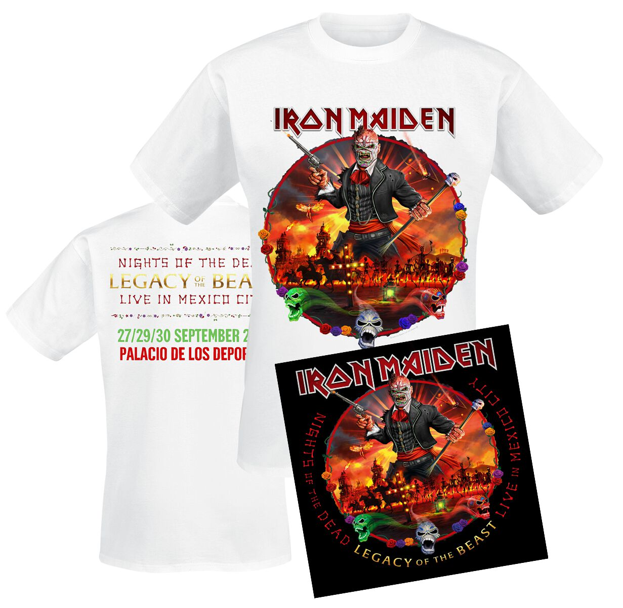 Image of Iron Maiden Nights of the dead 2-CD & T-Shirt Standard