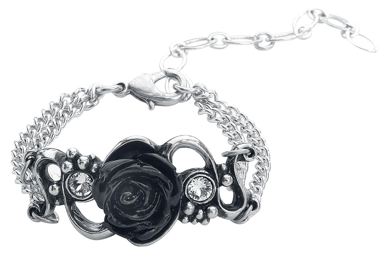Image of Alchemy Gothic Bacchanal Rose Armkette silberfarben