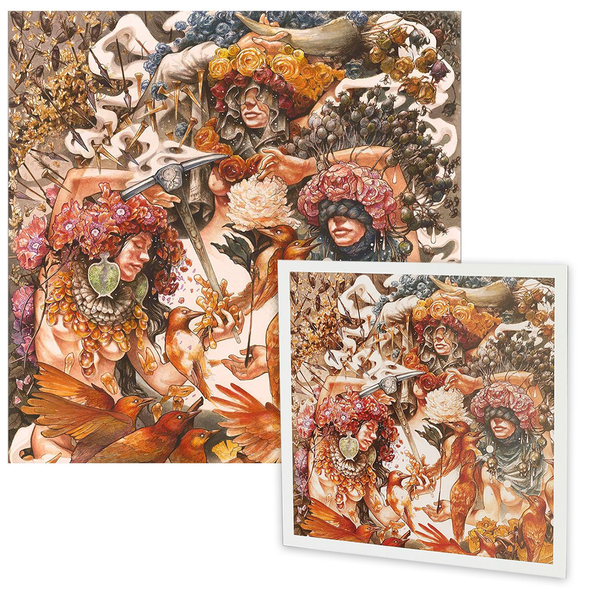Image of Baroness Gold & grey CD & Lithografie Standard