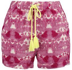 RED X CHIEMSEE - weiß/rote Batik Shorts