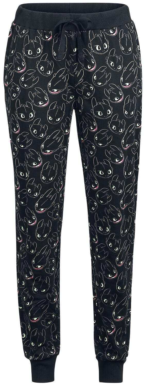 Drachenzähmen leicht gemacht - Ohnezahn - Light Up - Pyjama-Hose - schwarz - EMP Exklusiv!