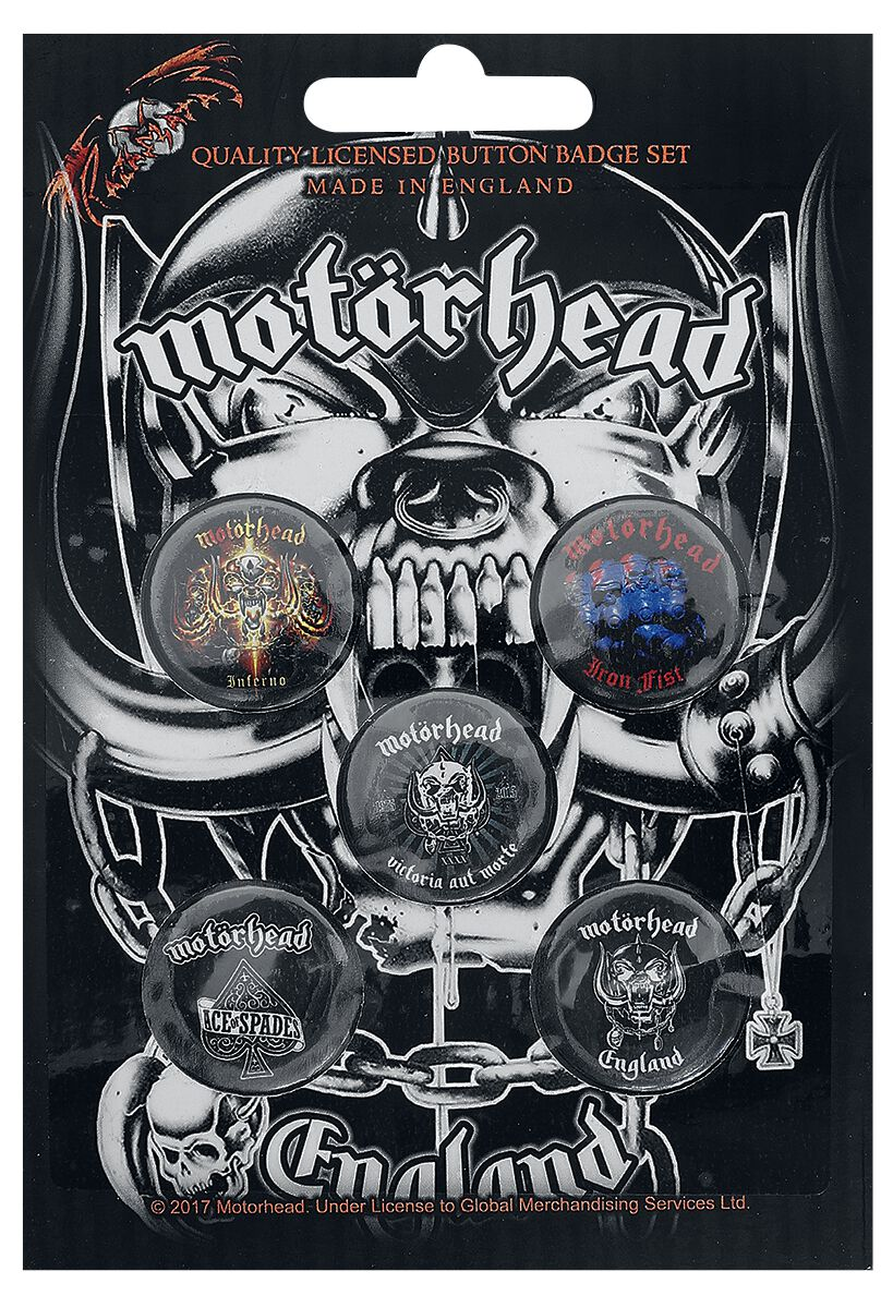 Image of Motörhead England Button-Pack multicolor
