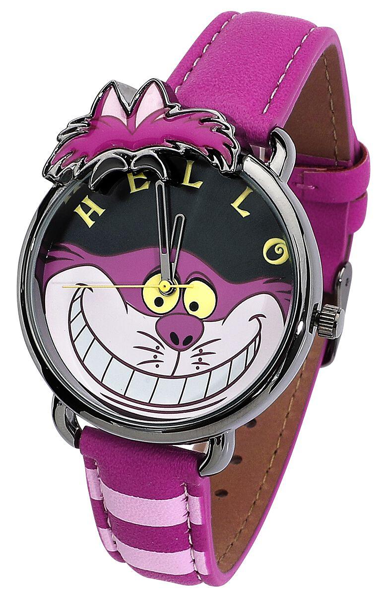 Image of Alice im Wunderland Grinsekatze Armbanduhr pink