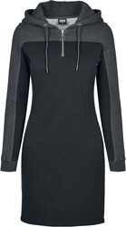 Ladies 2-Tone Hooded Dress