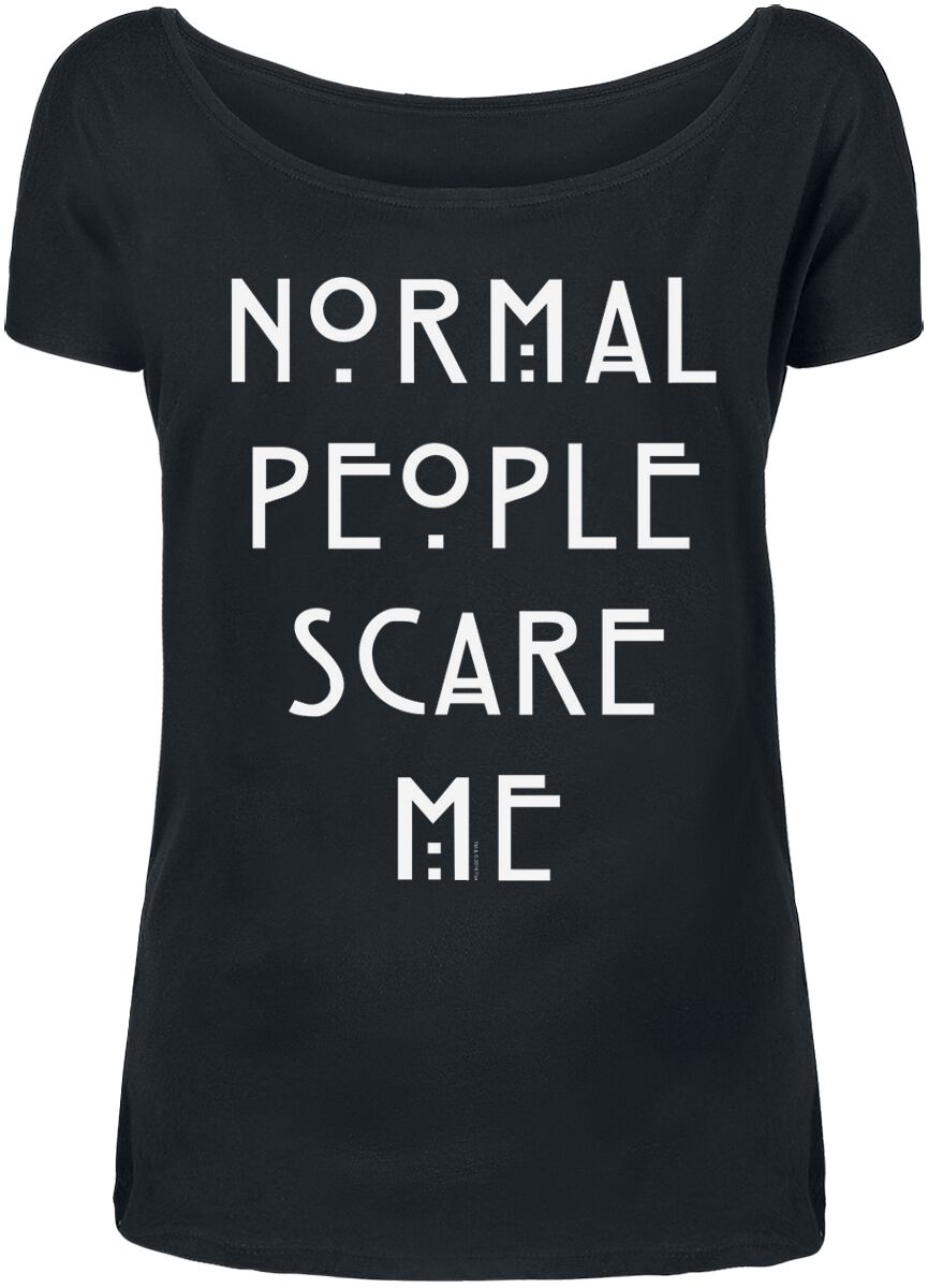 Image of American Horror Story Normal People Scare Me Girl-Shirt schwarz