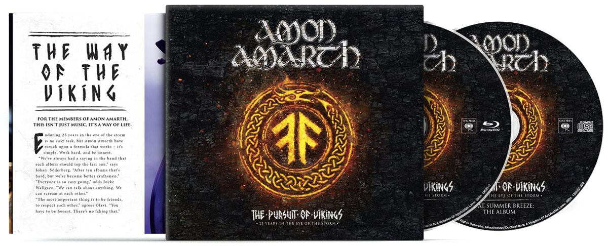Image of Amon Amarth The pursuit of vikings: 25 years in the eye of the storm Blu-ray & CD Standard