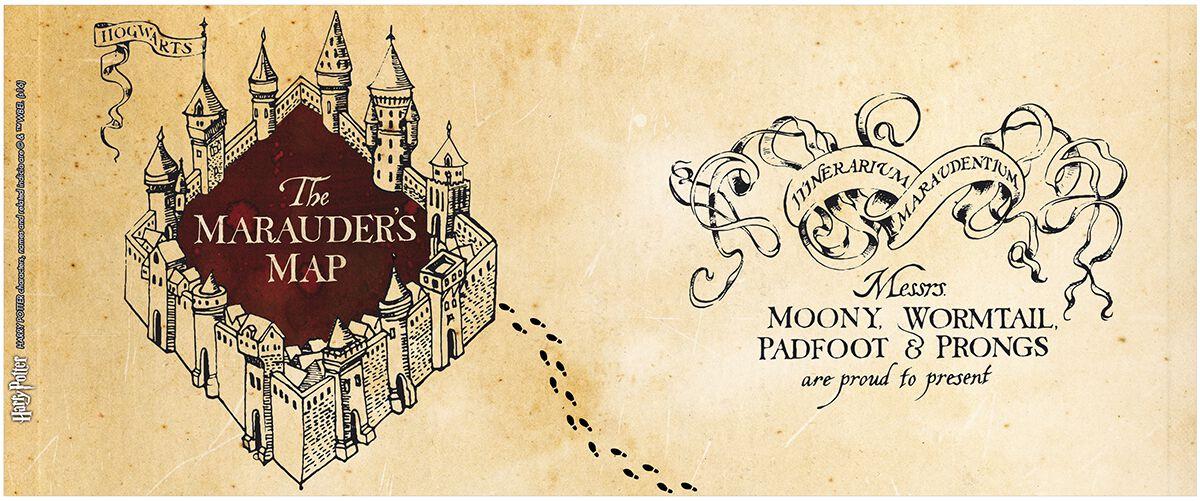 Harry Potter Karte Des Rumtreibers Spruch.Karte Des Rumtreibers Tasse Mit Thermoeffekt