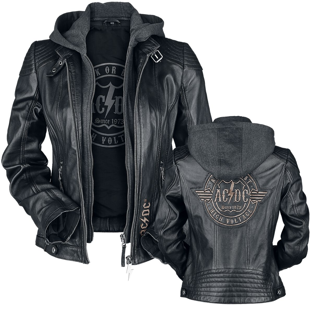 Image of AC/DC EMP Signature Collection Giacca pelle donna nero