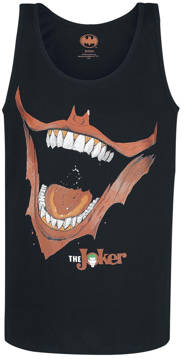 Batman Joker Smile Tank-Top schwarz MEJOKERTK001