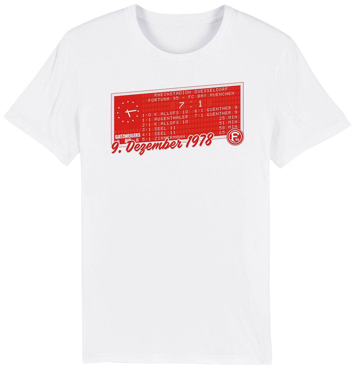 Fortuna Düsseldorf F95 7:1 T-Shirt weiß