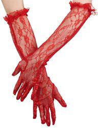 Lange Brokat Handschuhe