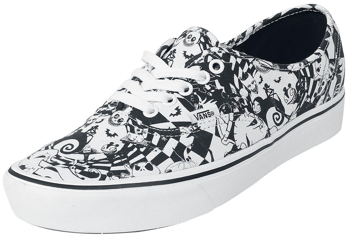 Sneakers für Frauen - Vans ComfyCush Authentic Multi Checker (Disney) Nightmare Before Christmas Sneaker schwarz weiß  - Onlineshop EMP