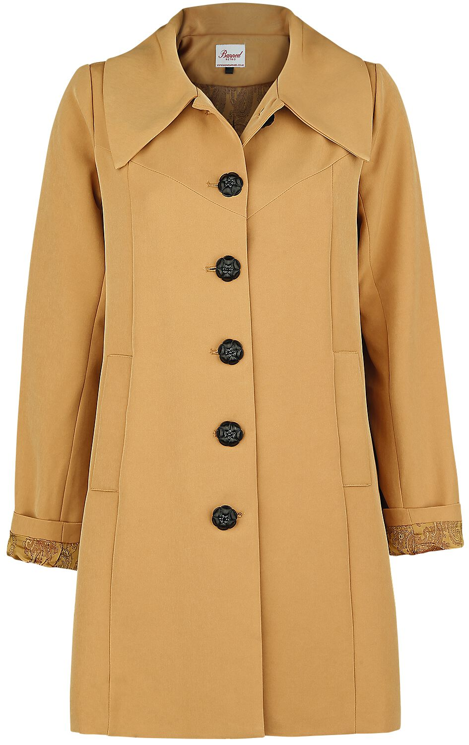 Image of Banned Retro Easy Breezy Trench Cappotto donna beige