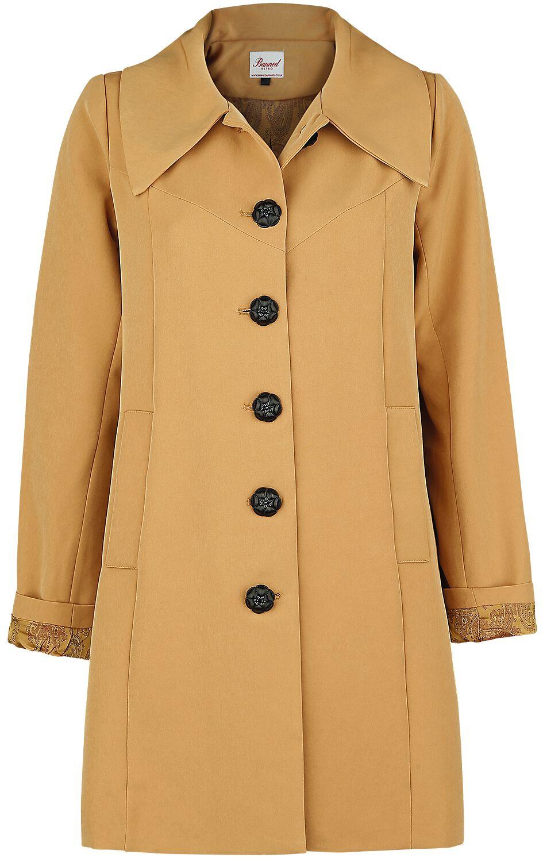 Jacken für Frauen - Banned Retro Easy Breezy Trench Kurzmantel beige  - Onlineshop EMP