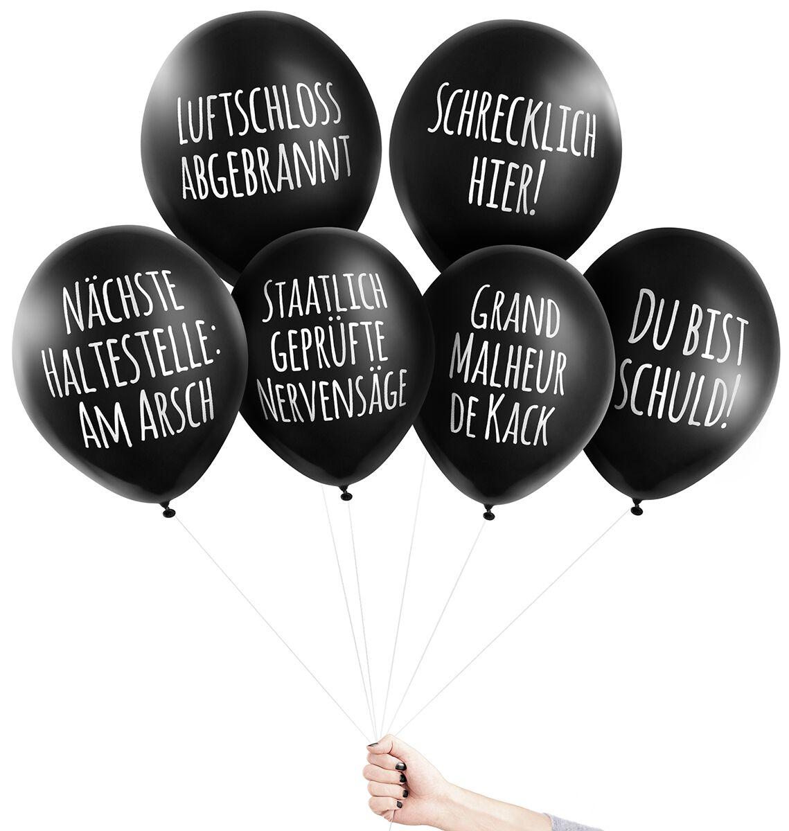 Image of Pechkeks Anti-Ballons - Universal-Set I Aufblasbares schwarz