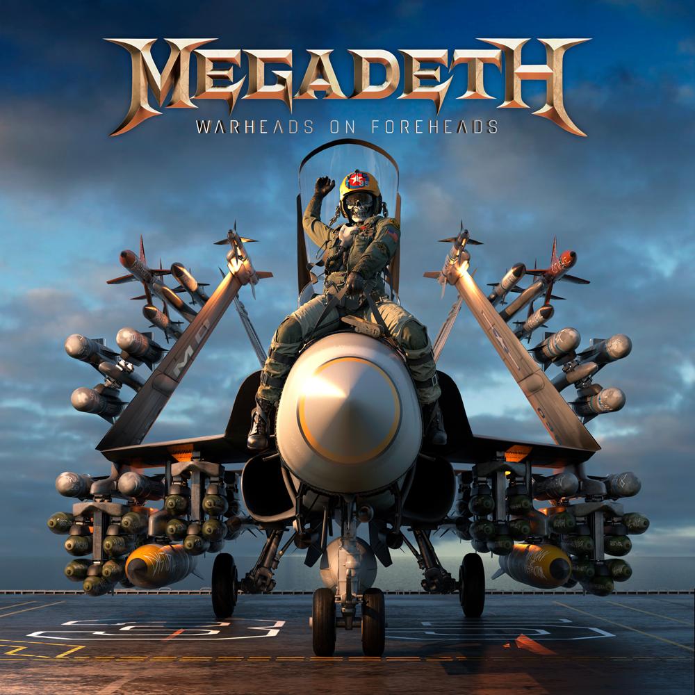 Image of Megadeth Warheads on foreheads 4-LP & Lanyard Standard