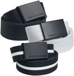 Canvas Belt 3er Pack
